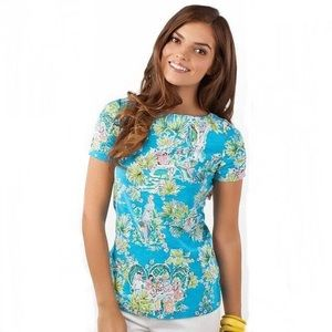 HTF Lilly Pulitzer Jungle Glam Toile Lana Top S
